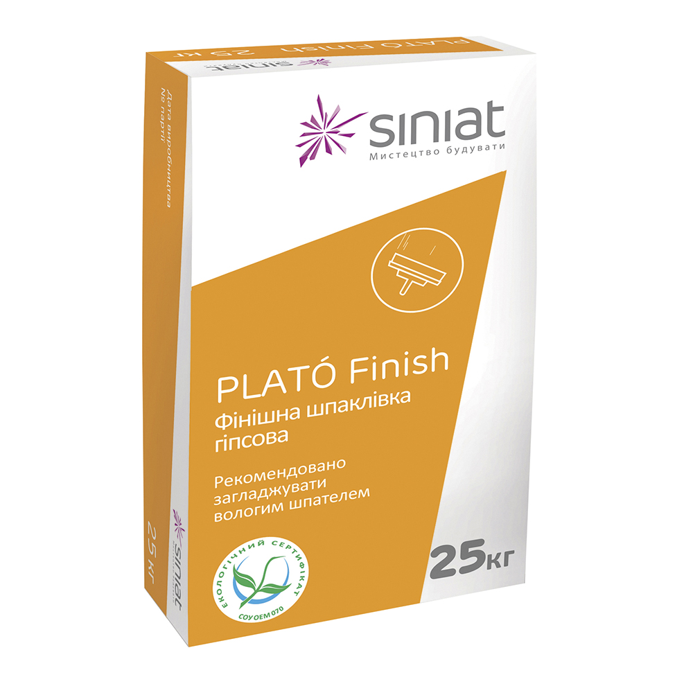 165e435cb570ba ᐉ Купить Гипсовая финишная шпаклевка Plato Finish, 25 кг - лучшая ...
